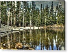 reflecting pond Carson Spur Acrylic Print