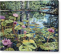 Reflecting Pond Acrylic Print by Danielle  Perry