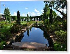 Reflecting Pond Landscape Acrylic Print by Victoria Clark