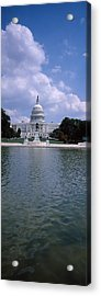 Reflecting Pool With A Government Acrylic Print by Panoramic Images