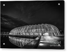 Reflecting The Future-bw Acrylic Print by Marvin Spates