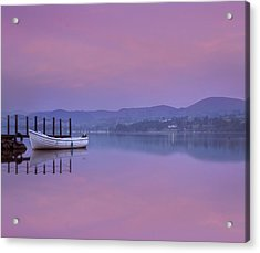 Reflecting The Morning Stillness Acrylic Print by Adrian Campfield