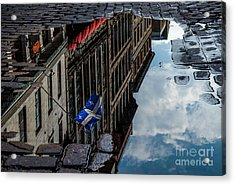 Reflecting Upon Quebec Acrylic Print by Amy Fearn