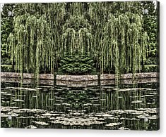 Acrylic Print featuring the photograph Reflecting Willows by Rebecca Hiatt