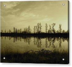 Reflection - Ankeny Wildlife Refuge Acrylic Print