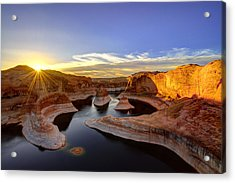 Reflection Canyon Sunrise Acrylic Print