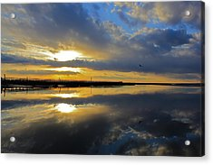 Acrylic Print featuring the photograph Reflection Grays Beach Boardwalk by Amazing Jules