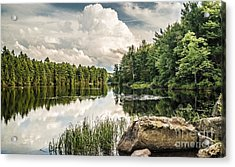 Acrylic Print featuring the photograph Reflection Lake In New York by Debbie Green