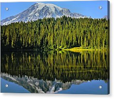 Reflection Lake Mount Rainier Acrylic Print