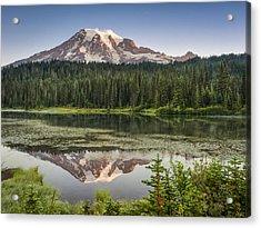 Reflection Lakes At Mount Rainier Acrylic Print
