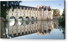 Reflection Of A Castle In A River Acrylic Print