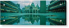 Reflection Of A Cathedral On Water, St Acrylic Print by Panoramic Images
