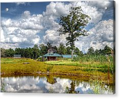 Acrylic Print featuring the photograph Reflection Of A Farm House by Kathy Baccari