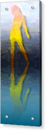 Reflection Of A Modern Girl Acrylic Print by Tommytechno Sweden