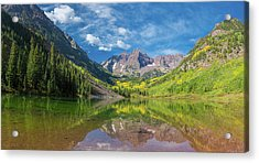 Reflection Of A Mountain On Water Acrylic Print