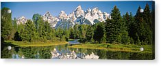 Reflection Of A Snowcapped Mountain Acrylic Print