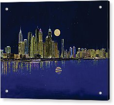 Reflection Of City Acrylic Print