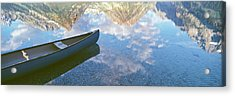 Reflection Of Clouds And Teton Range Acrylic Print by Panoramic Images