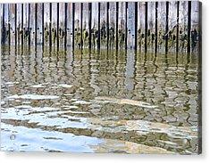 Reflection Of Fence  Acrylic Print by Sonali Gangane