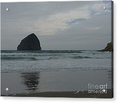 Acrylic Print featuring the photograph Reflection Of Haystock Rock  by Susan Garren