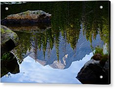 Reflection Of Longs Peak Acrylic Print
