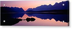 Reflection Of Mountains In Water, Upper Acrylic Print by Panoramic Images