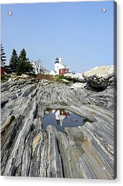Reflection Of The Lighthouse Acrylic Print