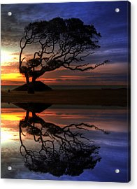 Reflection Of Troubled Times Acrylic Print