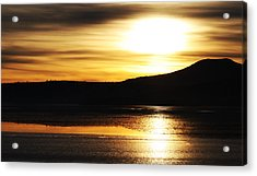 Reflection On Lake Klamath Acrylic Print by Jennifer Muller