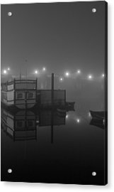 Reflection On Misty Thames  Acrylic Print