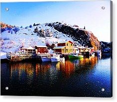Reflection On Quidi Vidi Lake Acrylic Print