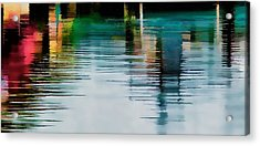 Acrylic Print featuring the photograph Reflection On The River by Pamela Blizzard