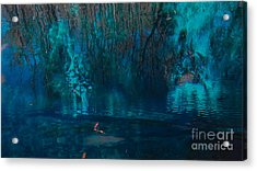 Reflection On The Water Acrylic Print
