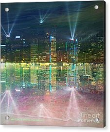 Reflection Water Skyline Acrylic Print by PainterArtist FIN