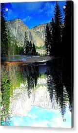 Reflections 1 Yosemite Acrylic Print by Theresa Ramos-DuVon