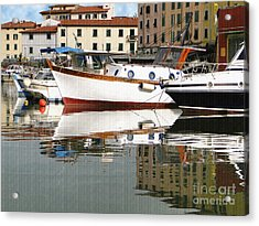 Acrylic Print featuring the photograph Reflections Along The Canal by Sue Melvin