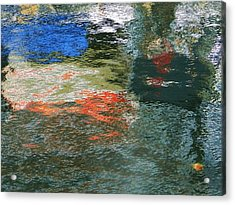 Reflections And Jellyfish In Ketchikan Acrylic Print by Karen Molenaar Terrell