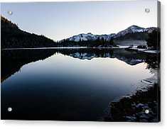 Reflections At Gold Creek Pond Acrylic Print by Brian Xavier