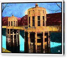 Reflections At Hoover Dam Acrylic Print