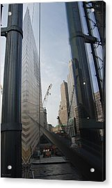Reflections At The 9/11 Museum Acrylic Print by Rob Hans