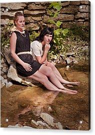 Reflections At Waters Edge Acrylic Print by Don Krajewski