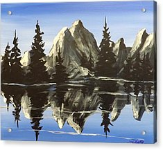 Acrylic Print featuring the painting Reflections by Darren Robinson
