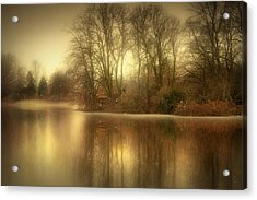 Reflections From The Lake Acrylic Print by Jennifer Woodward