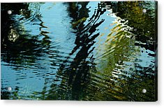 Acrylic Print featuring the photograph Reflections In A Fishpond by Lehua Pekelo-Stearns