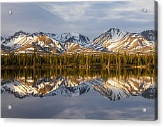 Reflections In Alaska Acrylic Print by Javier Fores