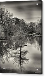 Reflections In Black And White Acrylic Print