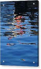Reflections In Red Acrylic Print