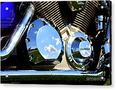 Reflections In The V Twin Acrylic Print by Patti Whitten