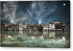 Reflections In Venice Acrylic Print by Nieves. Bautista