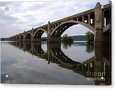 Reflections Of A Bridge Acrylic Print